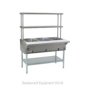 Eagle HT4-NG-FM Serving Counter Hot Food Steam Table Gas