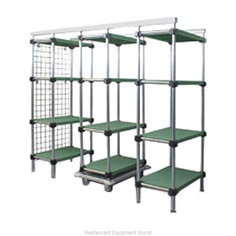 Eagle LEP74-S Track Shelving System (Magnified)