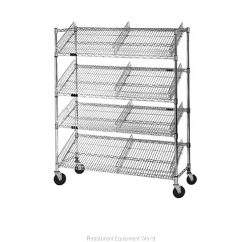 Eagle M1848BL-4 Display Cart Wire Shelving