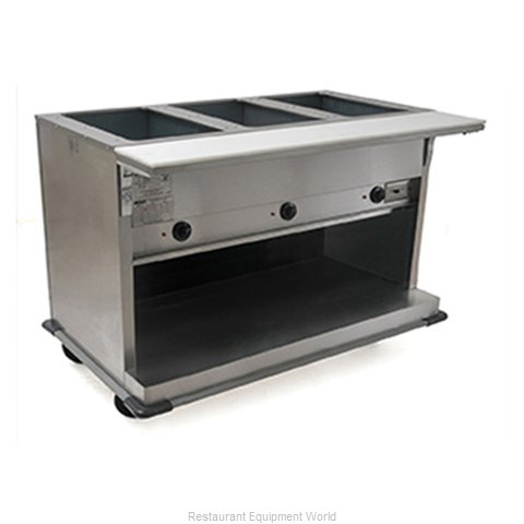 Eagle PHT2OB-208-3 Serving Counter Hot Food Steam Table Electric