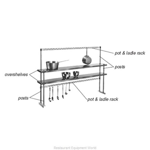 Eagle PRT4-C Pot Rack Table Mounted (Magnified)