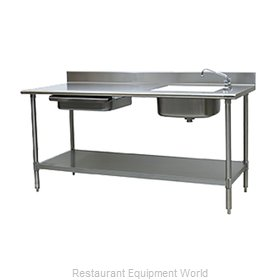 Eagle PT 3072-R Work Table, with Prep Sink(s)