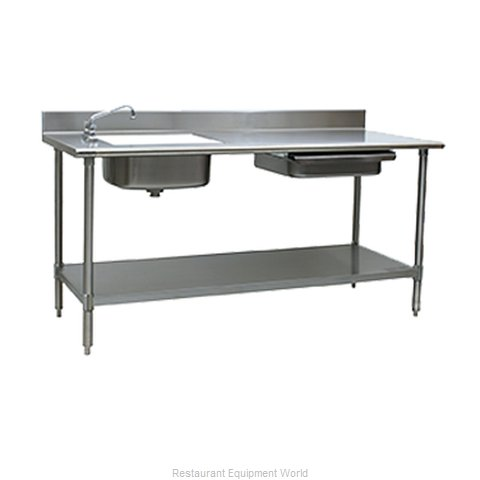 Eagle PT 3084 Work Table 84 Long with Prep Sink