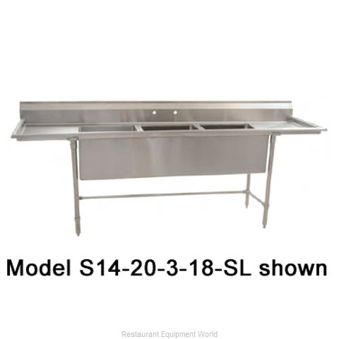 Eagle S14-20-1-X Sink 1 One Compartment