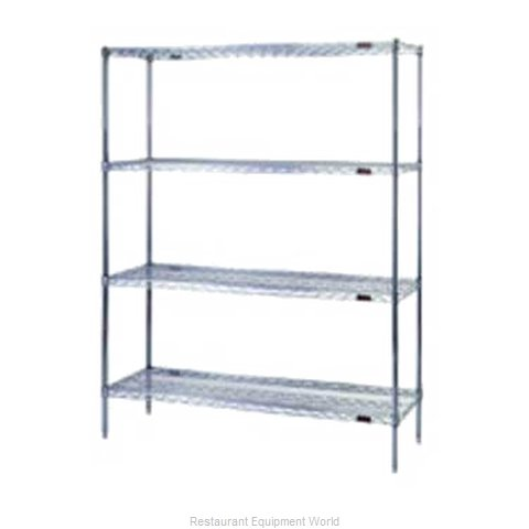 Eagle S4-74-2448Z Shelving Unit, Wire (Magnified)