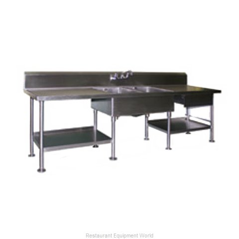 Eagle SMPT3096 Work Table Cabinet Base Open Front