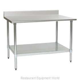 Eagle T2430B-BS-2X Work Table 30 Long Stainless steel Top