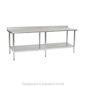 Eagle T2496B-BS-2X Work Table 96 Long Stainless steel Top