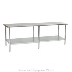 Eagle T3024B-2X Work Table 30 Long Stainless steel Top