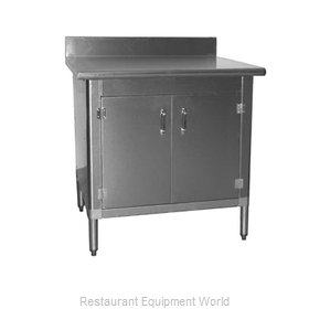 Eagle T3036BA-BS-HGD-X Work Table, Cabinet Base Hinged Doors