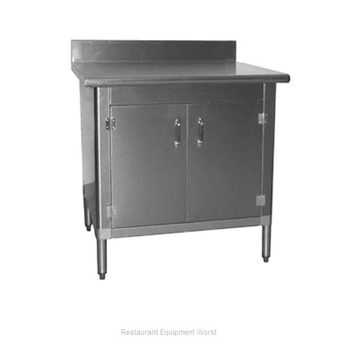 Eagle T3036BA-BS-HGD Work Table, Cabinet Base Hinged Doors