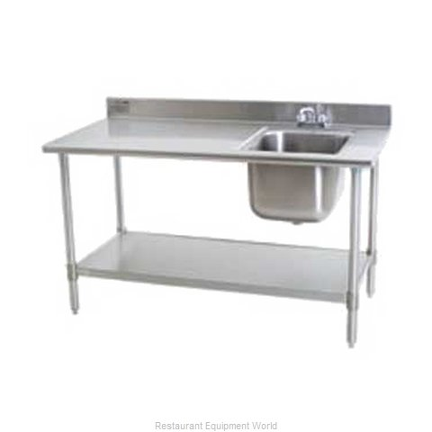 Eagle T3048SEBBSE23R-X Work Table 48 Long with Prep Sink