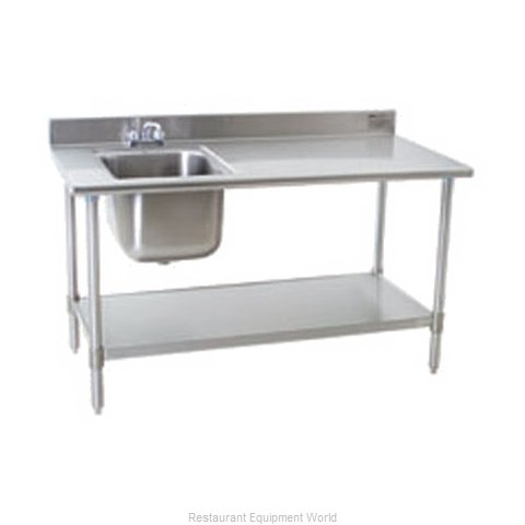 Eagle T3072SEBBSE23R-X Work Table 72 Long with Prep Sink