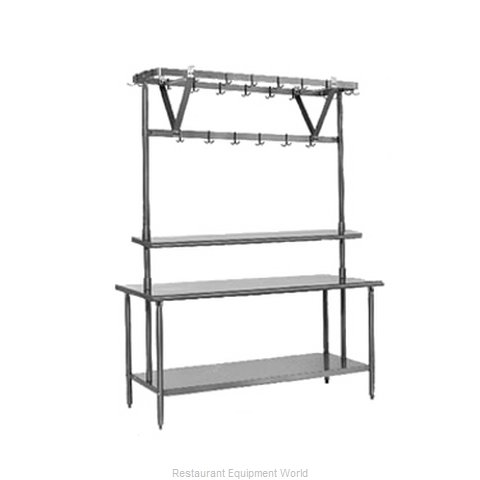 Eagle TM48PR Pot Rack Table Mounted (Magnified)