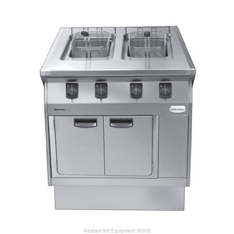Electrolux Professional 584103 Fryer Floor Model Gas Split Pot