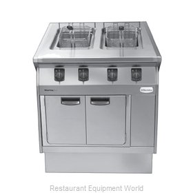 Electrolux Professional 584104 Fryer Floor Model Gas Split Pot