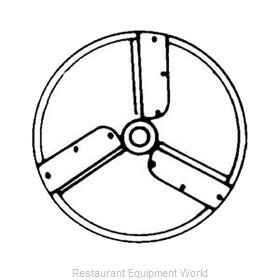 Electrolux Professional 653196 Food Processor, Slicing Disc Plate