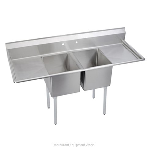 Elkay 14-2C18X18-2-24 Sink 2 Two Compartment