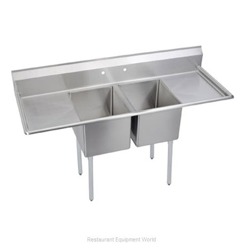 Elkay 14-2C24X24-2-24X Sink, (2) Two Compartment