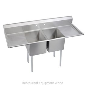Elkay 14-2C30X30-2-24 Sink, (2) Two Compartment