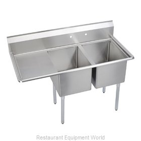 Elkay 14-2C30X30-L-24 Sink, (2) Two Compartment