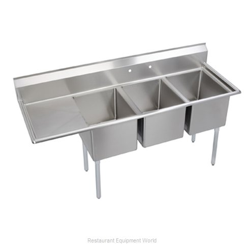 Elkay 14-3C24X30-L-24 Sink 3 Three Compartment