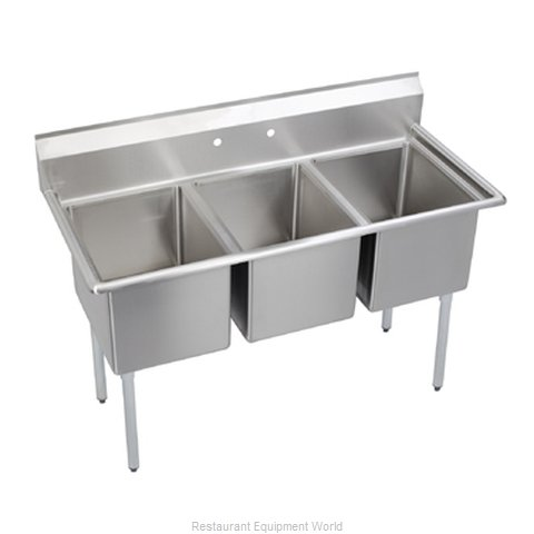 Elkay 14-3C30X30-0 Sink, (3) Three Compartment