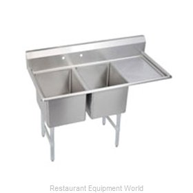 Elkay 2C18X24-R-18 Sink, (2) Two Compartment