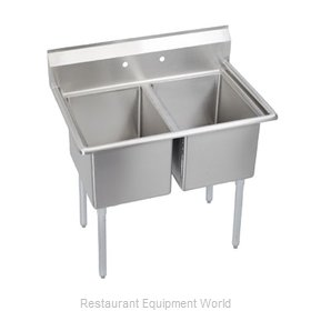 Elkay 2C20X20-0 Sink, (2) Two Compartment