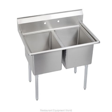 Elkay 2C24X24-0X Sink, (2) Two Compartment
