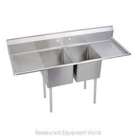 Elkay 2C24X24-2-24X Sink, (2) Two Compartment