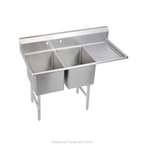 Elkay 2C24X24-R-24X Sink, (2) Two Compartment
