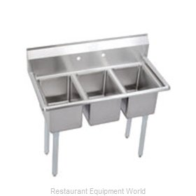 Elkay 3C10X14-0X Sink, (3) Three Compartment