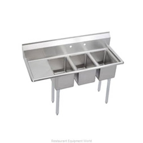 Elkay 3C10X14-L-12X Sink 3 Three Compartment