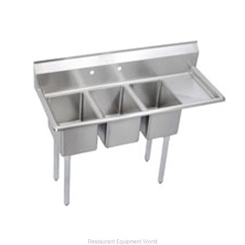 Elkay 3C10X14-R-12X Sink 3 Three Compartment (Magnified)