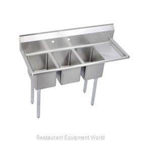 Elkay 3C10X14-R-12X Sink 3 Three Compartment