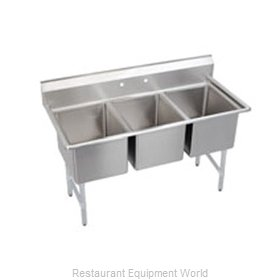 Elkay 3C12X16-0 Sink, (3) Three Compartment