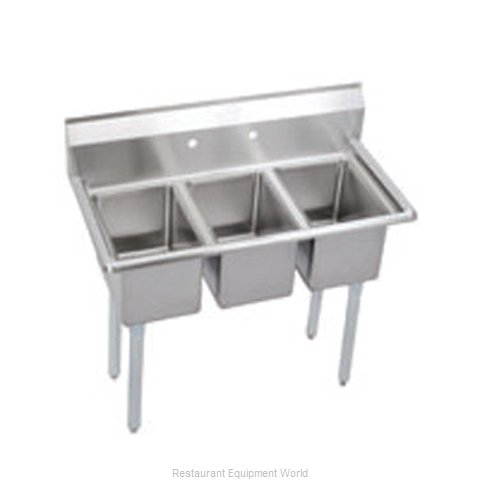 Elkay 3C12X16-0X Sink, (3) Three Compartment