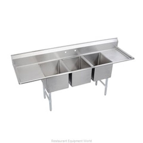 Elkay 3C12X16-2-12 Sink 3 Three Compartment (Magnified)