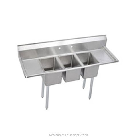 Elkay 3C12X16-2-12X Sink, (3) Three Compartment