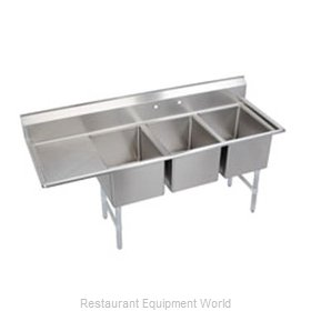 Elkay 3C12X16-L-12 Sink, (3) Three Compartment