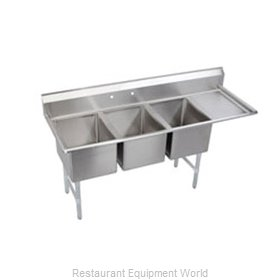 Elkay 3C12X16-R-12 Sink, (3) Three Compartment