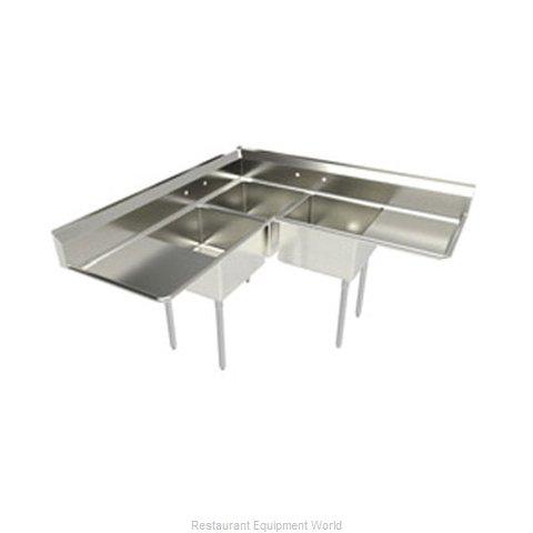 Elkay 3C18X18 2 18 L Sink, (3) Three Compartment