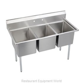 Elkay 3C20X20-0 Sink, (3) Three Compartment