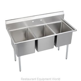 Elkay 3C24X24-0X Sink 3 Three Compartment