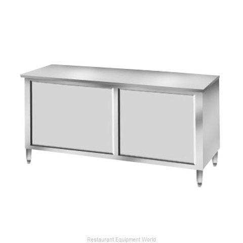 Elkay C24S48-STD Work Table, Cabinet Base Sliding Doors