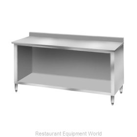 Elkay C30S120-BS Work Table Cabinet Base Open Front