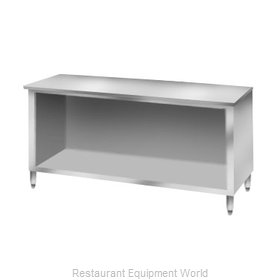 Elkay C30S120-STS Work Table, Cabinet Base Open Front