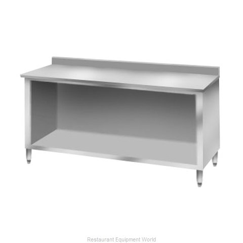 Elkay C30S96-BS Work Table, Cabinet Base Open Front