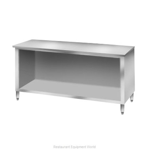 Elkay C30S96-STS Work Table, Cabinet Base Open Front